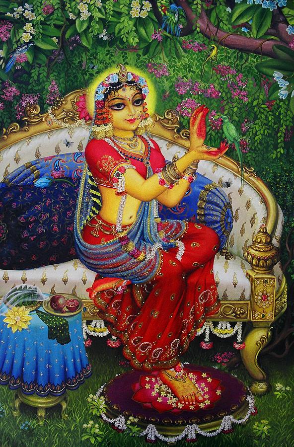 radha-with-parrot-vrindavan-das (1)